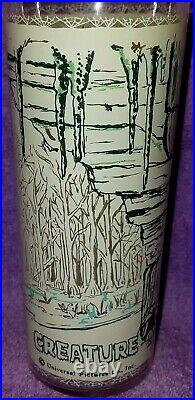 1960s VINTAGE UNIVERSAL PICTURES MONSTER CREATURE FROM THE BLACK LAGOON GLASS