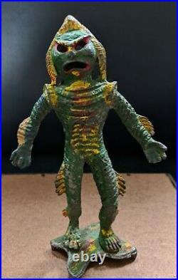 1967 Large RARE Creature From Black Lagoon Lead Aquarium Figure Monster Toy 5.75