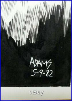 Arthur Adams 1982 Creature from the Black Lagoon Original Art Drawing VERY RARE