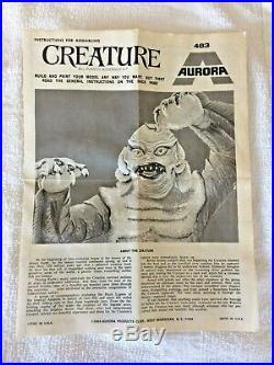 Aurora 1972 Creature from the Black Lagoon Glow Complete Model Kit
