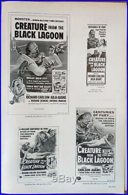 CREATURE FROM THE BLACK LAGOON, Richard Carlson, Julia Adams 1954, Pressbook 648
