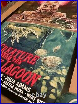 CREATURE FROM THE BLACK LAGOON Tom Walker Poster Print Bottleneck Limited #