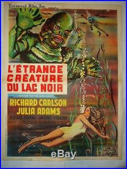 CREATURE FROM THE BLACK LAGOON/// U26/ ORIGINAL french poster