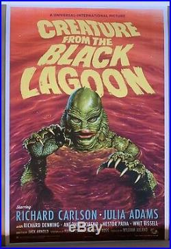 CREATURE FROM THE BLACK LAGOON Variant Poster /150 Jason Edmiston Mondo IN HAND