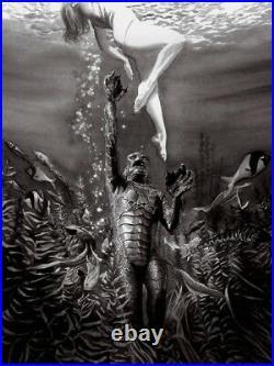 Classic Black & White Horror Movie Creature From The Black Lagoon Film Fine Art