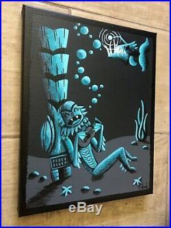 Clee Sobieski Painting Mid Century Tiki Creature From The Black Lagoon Halloween