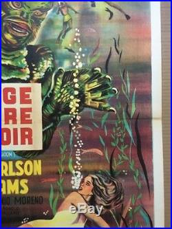Creature From The Black Lagoon Original Movie Poster French 1962 641 R62 1960s