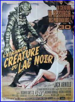 Creature From The Black Lagoon Rare Reissue Large French Movie Poster