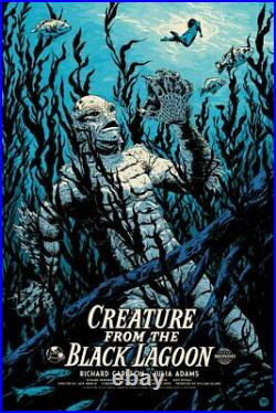 Creature From The Black Lagoon Variant Mondo Poster Universal Monsters 75 made