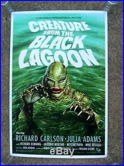 Creature from the Black Lagoon Jason Edmiston AP screen print Poster