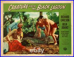 Creature from the Black Lagoon Original Lobby Card # 6 1954 creature in a net