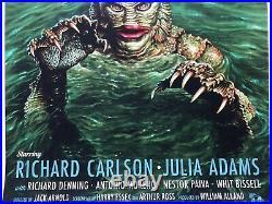 Creature from the Black Lagoon Screen Print by Jason Edmiston NT Mondo Poster