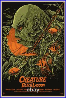Creature from the black lagoon by Ken Taylor Regular Sold Out Mondo Print