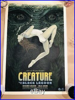 Creature from the black lagoon (variant) mondo poster 35 Out Of 125