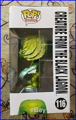 Funko Pop Creature From The Black Lagoon Metallic And GITD Gemini Exclusives