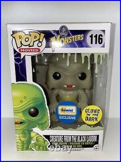 Funko Pop Movies #116 Creature From The Black Lagoon (glow) Gitd Vinyl Figure