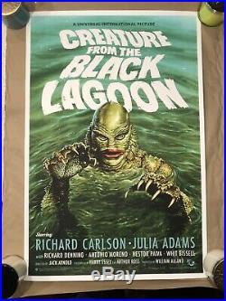 Jason Edmiston Creature from the Black Lagoon 235/275 Poster Print Mondo