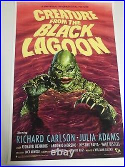 Jason Edmiston Creature from the Black Lagoon Variant Screen Print Mondo xx/150