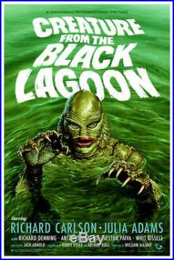 MONDO Creature from the BLACK LAGOON Jason Edmiston 275 screen print Poster