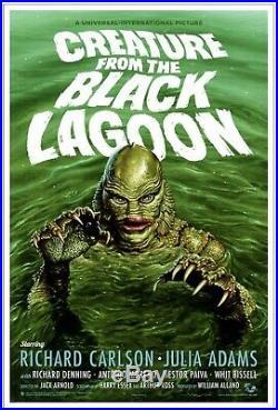 Mondo Creature From The Black Lagoon Jason Edmiston Art Print Movie Poster X/275