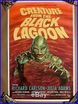 Mondo Creature From The Black Lagoon Variant Jason Edmiston Print Poster