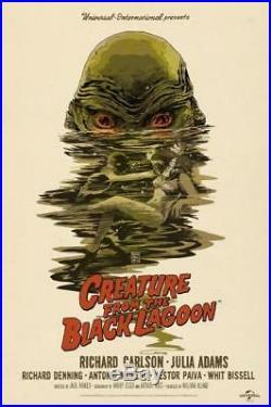 Mondo Creature from the Black Lagoon Poster Francesco Francavilla Screenprint