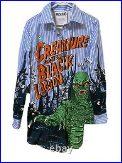 Moschino T Shirt Dress Creature From The Black Lagoon US-8, IT-42 (Large)