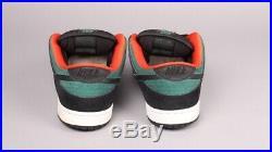 Nike Dunk Low Premium Pro SB Creature From Black Lagoon Sz 11.5 Black Green