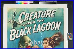 ORIGINAL MOVIE POSTER 1956 Creature From The Black Lagoon LARGE 1 SHT 27 X 41