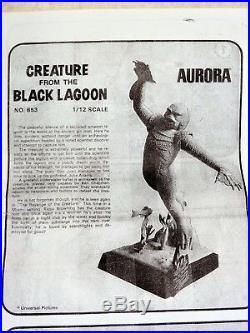 RARE 1975 Aurora CREATURE from the BLACK LAGOON