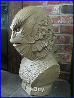 RARE OOAK Creature from the Black Lagoon GILLMAN BUST SIGNED SAVINI BEN CHAPMAN