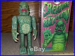 RARE Universal Monsters Creature From The Black Lagoon Tin Wind-Up Toy BOX