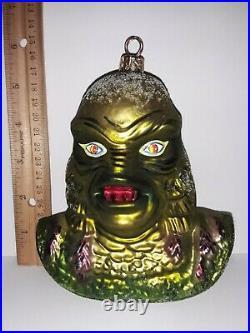 Radko CREATURE FROM THE BLACK LAGOON Glass Ornament Universal Monsters Christmas