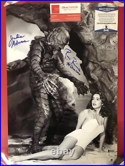 Ricou Browning Julie Adams signed 12 x 19 Creature from the Black Lagoon Photo