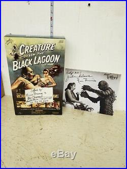 Sideshow Creature from the Black Lagoon 12in figure signed with signed picture