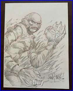 Stan & Vince Creature from the Black Lagoon Original Pencil Art Mondo Artists