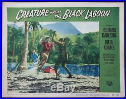 The Creature From The Black Lagoon Monster On Beach 1954 Lobby Card #7 Vg