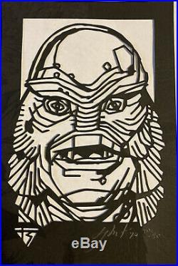 Tyler Stout Laser Cut Handbill Print The Creature From The Black Lagoon Xx/40