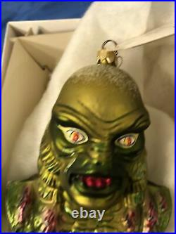 Universal Monsters Creature From The Black Lagoon Halloween Ornament Radko withBox