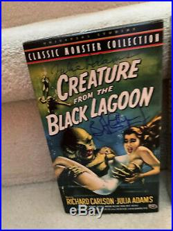 Universal monsters Creature From The Black lagoon Video Tapes Autographed