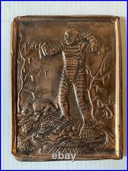 VINTAGE- Aurora Creature From The Black Lagoon Bronze Placard 6 x 8