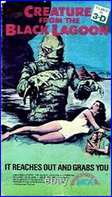 Vhs CREATURE FROM THE BLACK LAGOON 1954 3-D withGLASSES UBER RARE MCA Julie Adams